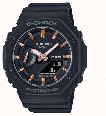 Casio Średniej wielkości g-shock | czarny pasek z żywicy | czarna tarcza GMA-S2100-1AER