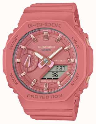 Casio Średniej wielkości g-shock | różowy pasek z żywicy | różowa tarcza GMA-S2100-4A2ER