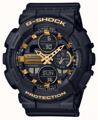 Casio Sporty unisex | g-shock | czarny pasek z żywicy | czarny dal | GMA-S140M-1AER