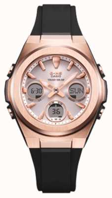 Casio G-shock | msg -rose-gold ip | czarny pasek z żywicy | MSG-S600G-1AER