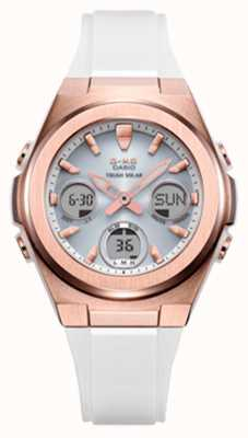 Casio G-shock | msg -rose-gold ip | biały pasek z żywicy MSG-S600G-7AER