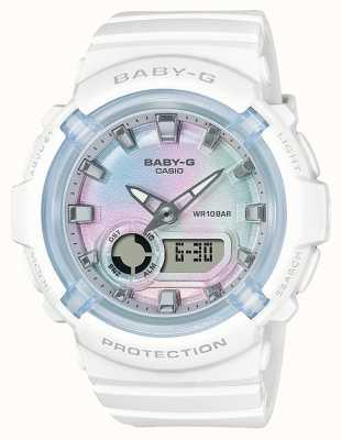 Casio Baby-g   biały pasek z żywicy   wielobarwna tarcza BGA-280-7AER
