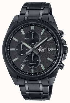 Casio Edifice all black ip | czarna bransoleta ze stali nierdzewnej | czarna tarcza EFV-610DC-1AVUEF