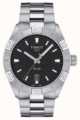 Tissot Pr100 sport | czarna tarcza | bransoleta ze stali nierdzewnej T1016101105100