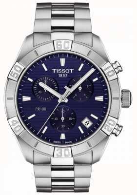 Tissot Pr100 sport | chronograf | niebieska tarcza | bransoleta ze stali nierdzewnej T1016171104100