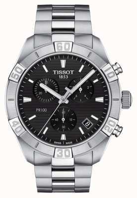 Tissot Pr100 sport | chronograf | czarna tarcza | bransoleta ze stali nierdzewnej T1016171105100