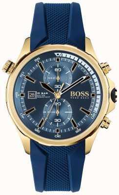 BOSS | obieżyświat | chronograf | niebieska tarcza | niebieski silikonowy pasek | 1513822
