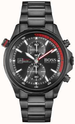 BOSS | obieżyświat | chronograf | czarna tarcza | czarna stalowa bransoletka pvd | 1513825