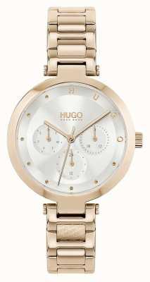 HUGO #nadzieja multi | damska bransoleta ze stali w kolorze różowego złota | srebrna tarcza 1540087