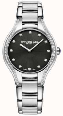 Raymond Weil Noemia | damska bransoletka ze stali nierdzewnej | diamentowa tarcza 5132-STS-20081