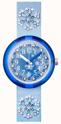 Flik Flak Frozilicious | niebieski pasek z tkaniny z kryształkami | niebieska tarcza FPNP073
