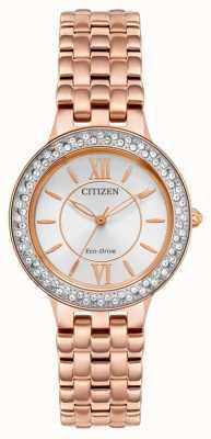 Citizen Damska bransoletka eco-drive w kolorze różowego złota FE2088-54A