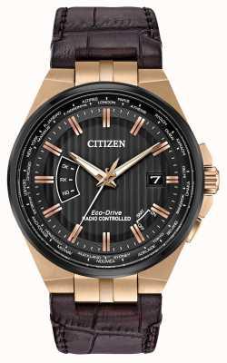 Citizen Wieczny świat mężczyzn w | brązowy skórzany pasek CB0168-08E
