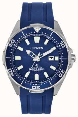 Citizen Męski silikon eco-drive promaster blue BN0201-02M