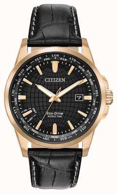 Citizen Męski zegar światowy z napędem Eco-Drive WR50 BX1003-08E