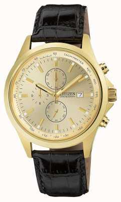 Citizen Pozłacany kwarcowy chronograf AN3512-03P