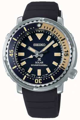 Seiko Prospex | czarny silikonowy pasek | czarna tarcza SUT403P1