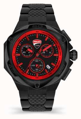 Ducati Dt002 | chronograf | czarna tarcza | bransoleta ze stali pvd w kolorze czarnym DU0065-ECHB.B01