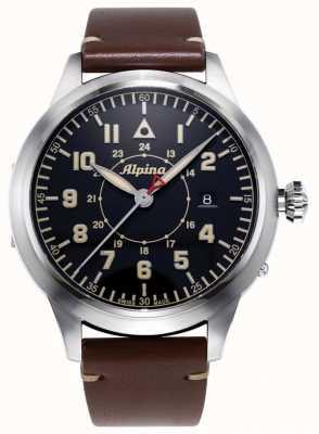 Alpina Smartimer Pilot Heritage Ltd | brązowy skórzany pasek | niebieska tarcza AL-525BBG4SH6
