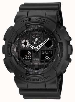 Casio Alarm chronografu G-shock czarny GA-100-1A1ER