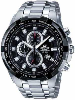 Casio Męski zegarek ze stali nierdzewnej z czarną tarczą EF-539D-1AVEF