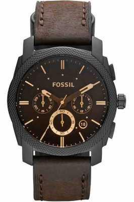 Fossil Męski zegarek z chronografem z brązu FS4656