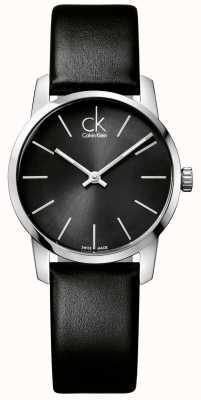 Calvin Klein Czarny damski czarny skórzany pasek na miasto K2G23107
